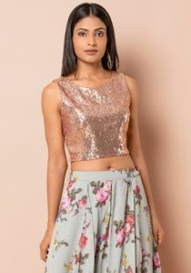 Sequin party tops & palazzo